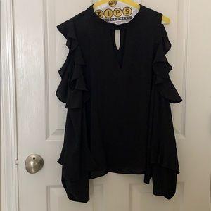 Loft Black blouse!